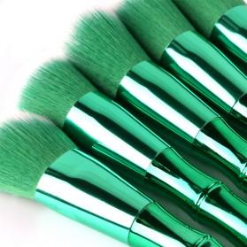 Make Up Brush Model Bamboo 10 PCS - Green - 8