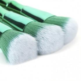 Make Up Brush Model Bamboo 10 PCS - Green - 10