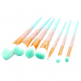 Make Up Brush Model Diamond 7 PCS - Pink