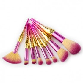 Make Up Brush Model Conch 8 PCS - Pink
