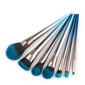 Make Up Brush Model Diamond Shape 7 PCS - Blue