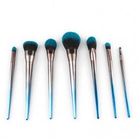 Make Up Brush Model Diamond Shape 7 PCS - Blue - 2