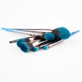 Make Up Brush Model Diamond Shape 7 PCS - Blue - 3