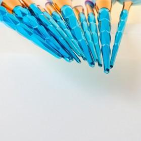 Make Up Brush Model Diamond Fan Shape 12 PCS - Green - 4
