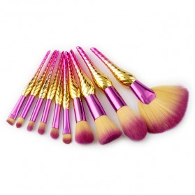 Make Up Brush Model Conch 10 PCS - Pink
