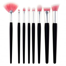 Make Up Brush Women 8 PCS - Pink
