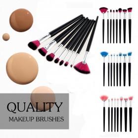 Make Up Brush Women 8 PCS - Pink - 3