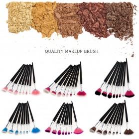 Make Up Brush Women 8 PCS - Pink - 4