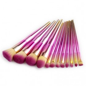Make Up Brush Gradient 12PCS - Pink