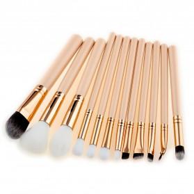 Make Up Brush Cosmetic 12PCS - Rose Gold