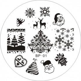 Cetakan Stamping Nail Art - BP-01