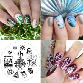 Cetakan Stamping Nail Art - BP-01 - 2