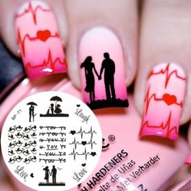 Cetakan Stamping Nail Art - BP-L018 - 7