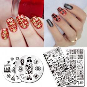 Cetakan Stamping Nail Art - BP-XL008 - 5