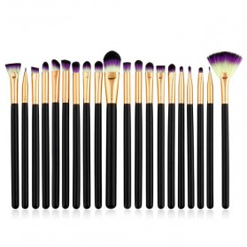 Eye Make Up Brush Kuas Makeup Mata - 20 PCS - Purple