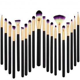 Eye Make Up Brush Kuas Makeup Mata - 20 PCS - Purple - 2