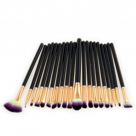 Eye Make Up Brush Kuas Makeup Mata - 20 PCS - Purple - 3