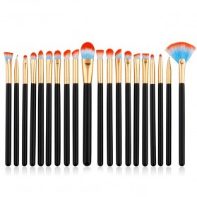 Eye Make Up Brush Kuas Makeup Mata - 20 PCS - Red/Blue