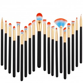 Eye Make Up Brush Kuas Makeup Mata - 20 PCS - Red/Blue - 2