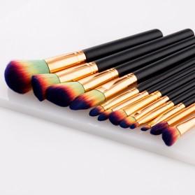Make Up Brush Kuas Rias - 12 PCS - Green/Yellow - 3