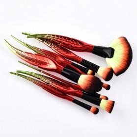 Make Up Brush Kuas Rias Bentuk Daun - 8 PCS - Red - 3