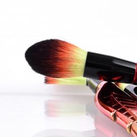 Make Up Brush Kuas Rias Bentuk Daun - 8 PCS - Red - 6