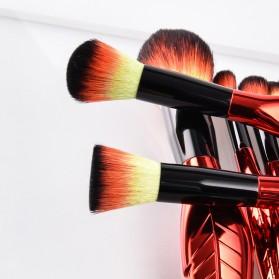 Make Up Brush Kuas Rias Bentuk Daun - 8 PCS - Red - 7