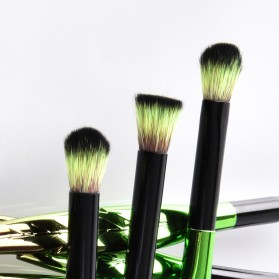 Eye Make Up Brush Kuas Rias Mata Bentuk Daun - 10 PCS - Green - 5