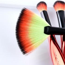 Eye Make Up Brush Kuas Rias Mata Bentuk Daun - 4 PCS - Red - 3
