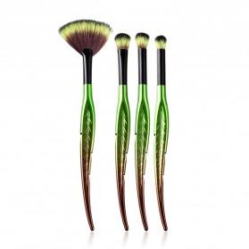 Eye Make Up Brush Kuas Rias Mata Bentuk Daun - 4 PCS - Green