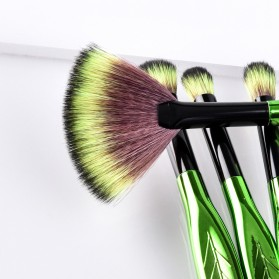 Eye Make Up Brush Kuas Rias Mata Bentuk Daun - 4 PCS - Green - 3