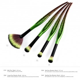 Eye Make Up Brush Kuas Rias Mata Bentuk Daun - 4 PCS - Green - 5