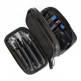Tas Make Up Double Layer Pouch Bag - Black