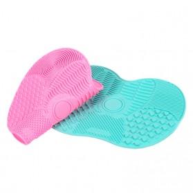 Rinse Pembersih Kuas Make Up Silicone Pad - Pink - 5