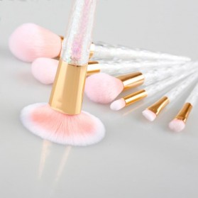 Kuas Make Up Brush with Crystal Handle - 7 PCS - Pink - 5