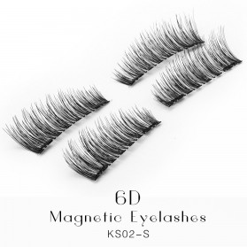 Bulu Mata Palsu Magnetic Fake Eyelashes 4 PCS - KS02-S - Black