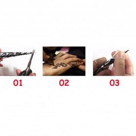 Body Paint Indian Henna Tato Cream - Black - 3