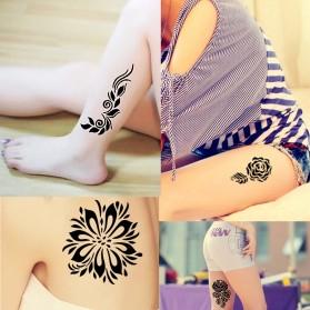 Body Paint Indian Henna Tato Cream - Black - 4