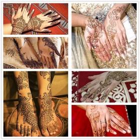 Body Paint Indian Henna Tato Cream - Black - 5