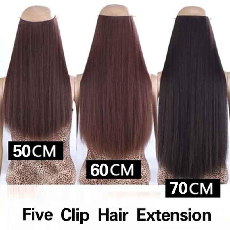 Hair Extension Wig Rambut Palsu Model Natural Straight 50cm Black Jakartanotebook Com