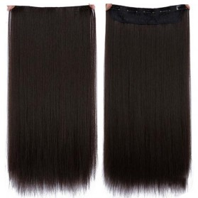 Hair Extension Wig Rambut Palsu Model Natural Straight 60cm - Black/Brown
