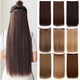 Hair Extension Wig Rambut Palsu Model Natural Straight 60cm - Brown - 2