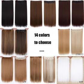 Hair Extension Wig Rambut Palsu Model Natural Straight 60cm - Brown - 3