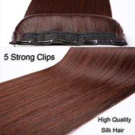 Hair Extension Wig Rambut Palsu Model Natural Straight 60cm - Brown - 5