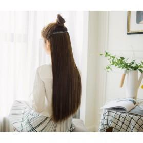 Hair Extension Wig Rambut Palsu Model Natural Straight 60cm - Brown - 6