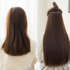 Hair Extension Wig Rambut Palsu Model Natural Straight 60cm - Brown - 7