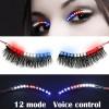 Pelentik Bulu Mata - Bulu Mata Palsu LED Light 12 Mode Voice Control - Mix Color