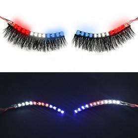 Bulu Mata Palsu LED Light 12 Mode Voice Control - Mix Color - 4