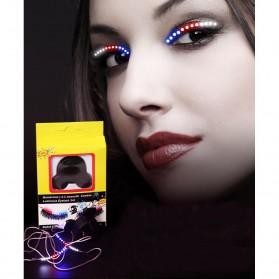 Bulu Mata Palsu LED Light 12 Mode Voice Control - Mix Color - 5