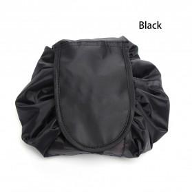 Tas Organizer Make Up Simple Travel Drawstring Bag - Black